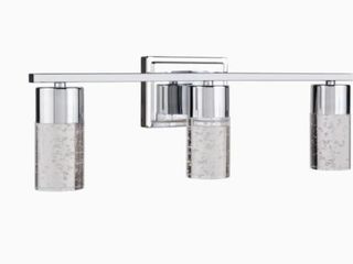 Allen   Roth Dunwynn 3 light Chrome Modern contemporary Vanity light