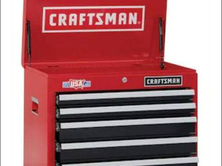 CRAFTSMAN 2000 Series 26 in W x 19 75 in H 5 Drawer Steel Tool Chest  Red