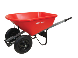 Craftsman 6CFT Poly Tray Wheelbarrow