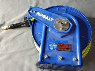 Kobalt Heavy Duty Hose Reel w 300 max PSI Hose MISSING  CRANK