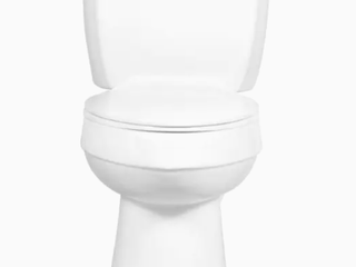 AquaSource Henshaw White WaterSense labeled Elongated Chair Height 2 piece Toilet 12 in Rough In Size