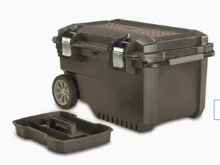 No Wheels  Craftsman 29 in Black Plastic Wheels lockable Tool Box
