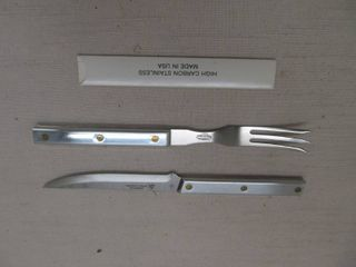 American cutlery fork and knife