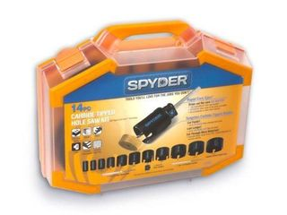 Spyder 14 Piece Carbide Tipped Deep Cut Hole Saw Kit