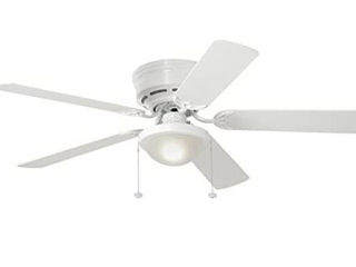 Harbor Breeze Armitage 52 in White led Indoor Flush Mount Ceiling Fan MISSING GlOBE