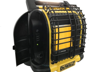 Dewalt F332000 12 000 BTU Portable Cordless Heavy Duty Radiant Heater  Black