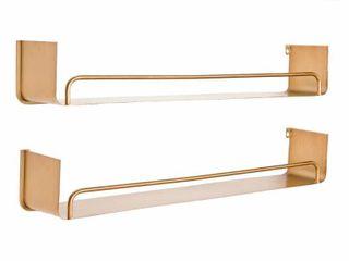 Carson Carrington lacktorp Modern Wall Shelf  Set of 2