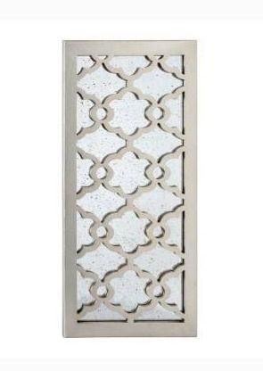 UtopiaAlley Martique Wood Decorative Mirror  31 5 H  Distressed Silver   30  Retail 95 49