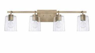Greyson 4 light Bath Vanity Fixture  Retail 230 00