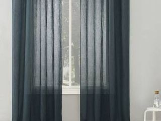 No  918 Erica Crushed Sheer Voile Grommet Curtain Panel