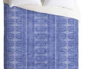Deny Designs Dotted Bohemian Blue Duvet Cover Set  Retail 152 49