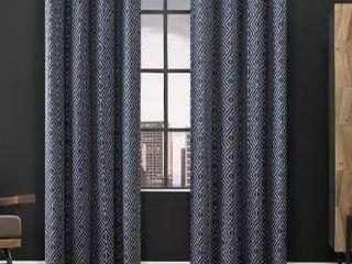 Scott living Gresham Geometric Total Blackout Grommet Curtain Panel