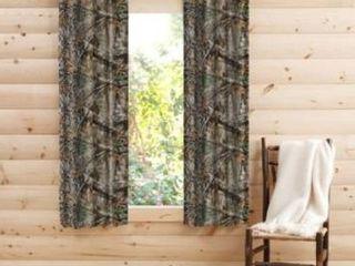 Rustic Decor Realtree Edge Camo Curtain Panel Pair   40  W x 63  l