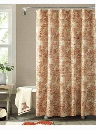 Tommy Bahama Batik Pineapple Shower Curtain Bedding