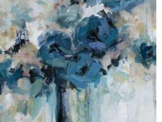 Midnight Splash Blue Flower Bouquet by Carol Robinson Wrapped Canvas Painting Art Print