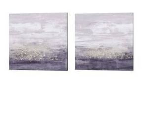 Jennifer Goldberger  Amethyst Glitter  Canvas Art  Set of 2