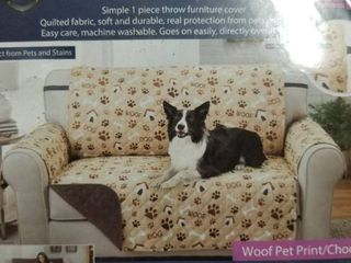 Couch Guard Reversible Furniture Protector Reversible For love Seat Paw Print