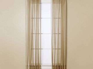 Closeout  Miller Curtains Sheer Angelica Volie 59  x 63  Panel