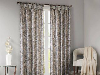 95 x50  Elodie Paisley Printed light Filtering Window Panel Taupe