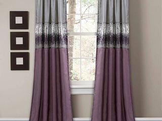 Night Sky Window Panel Single Purple Grey 42x84