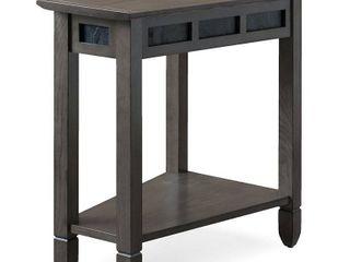 Smoke Grey Oak and Black Recliner Wedge Table  Retail 149 99