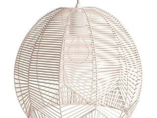The Curated Nomad Eclectic Rattan Pendant light  Retail 124 99