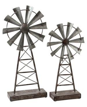 Farmhouse Windmill Table Top Decor  Set of 2