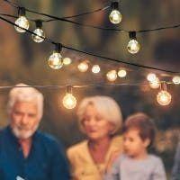 7 65m 25lED light String lights Outdoor Hanging lights for Garden Pergola Decks Cafe Market with 25 Bulbs   301 inch length