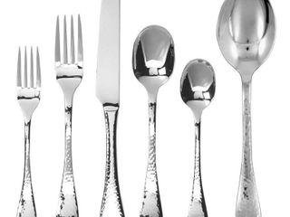 Ginkgo International lafayette 42 Piece Stainless Steel Flatware Set  Service for 8 Plus 2 Piece Hostess Set