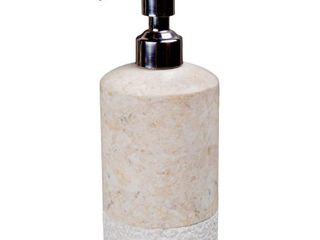Creative Home Spa Hand Carved Collection Champagne Marble liquid Soap  lotion Dispenser   Beige
