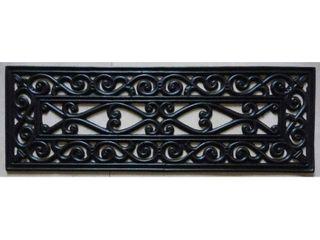 Ottomanson Rubber Stair Treads  Black Iron Cutout  10  x 30   5PC    10  x 30   5PC