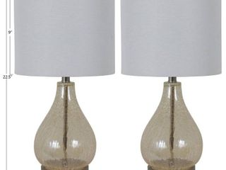 Silver Orchid Bert Teardrop Table lamps   Retail 89 98