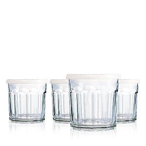 luminarc 14 Ounce Working Glass Storage Jar DOF with lids  Set of 4