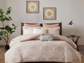 Ink Ivy Ellipse King California King 3 Piece Cotton Jacquard Comforter Set Bedding