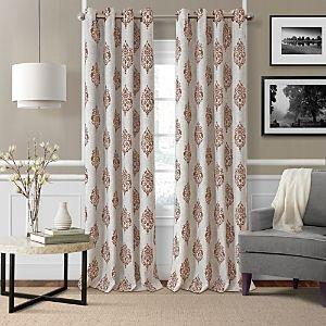 Navara Medallion Print linen 52  x 84  Blackout Curtain Panel