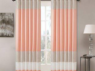 84 x50  Salem Polyoni Pintuck Curtain Panel Coral