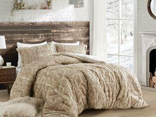 Coma Inducer Oversized Comforter   Arctic Bear   Tundra Brown  Retail 208 99