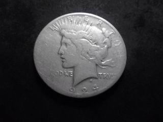 1924 S Peace Silver Dollar