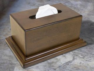American Furniture Classics Model 434 Decorative Wood Tissue Box with Hidden Concealment Compartment for your Valuables