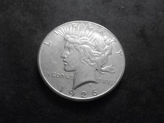 1926 S Silver Peace Dollar