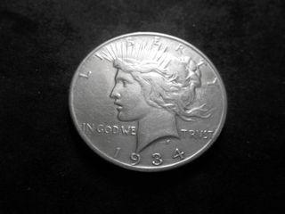 1934 S Silver Peace Dollar