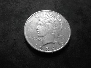 1934 D Double Die Silver Peace Dollar