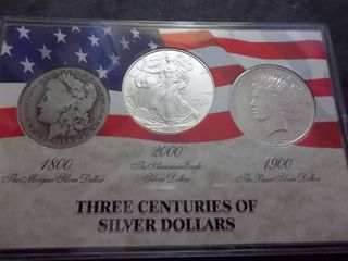 Three Centuries Of Silver Dollars In Collectors Case