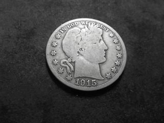 1915 S Barber Half Dollar