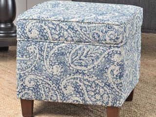 Carson Carrington Hnifsdalur Square Storage Ottoman Wood legs  Retail 89 49