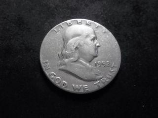 1952 S Franklin Half Dollar