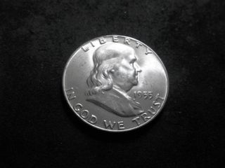 1955 Franklin Silver Half Dollar