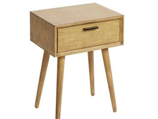 Mid Century 1 Drawer Accent Stand Wood   Silverwood