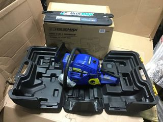 2 In 1 20 in  and 14 in  45cc Gas Chainsaw Combo with Blow Molded Case by Blue Max in good condition