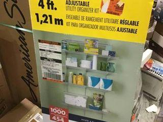 ClosetMaid 2845 ShelfTrack 4ft  Pantry Organizer Kit  White in good condition